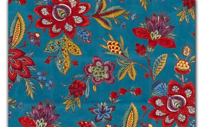Indienne, Corallina's homage to the ancient tradition of Indian fabric.