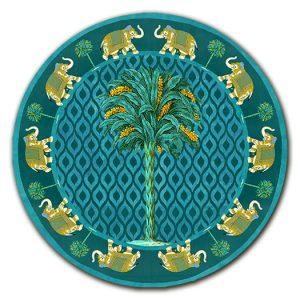 Sottopiatto Palma e Elefanti