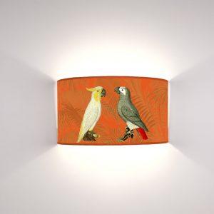 Fauna Pappagalli fondo Arancio