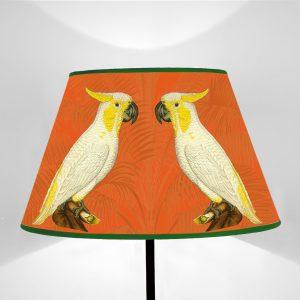 Fauna Cacatua fondo Arancione