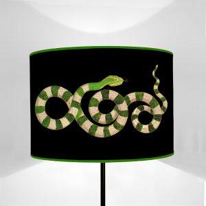 Fauna Serpenti Verdi fondo Nero