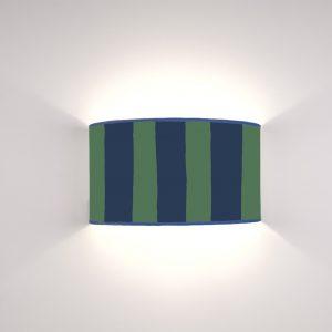 Geo Righe Blu su fondo Verde