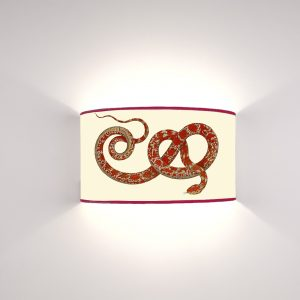 Fauna Serpente Rosso fondo Crema