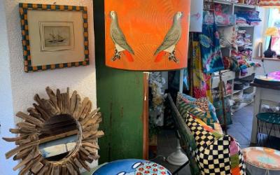 Il Paralume Cacatua fondo Arancione